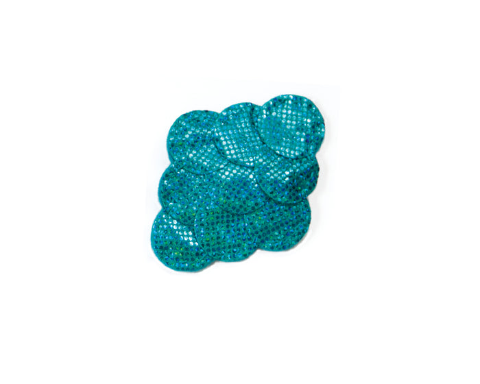 Aqua blue Mermaid Hair Clip by Brooklyn Owl