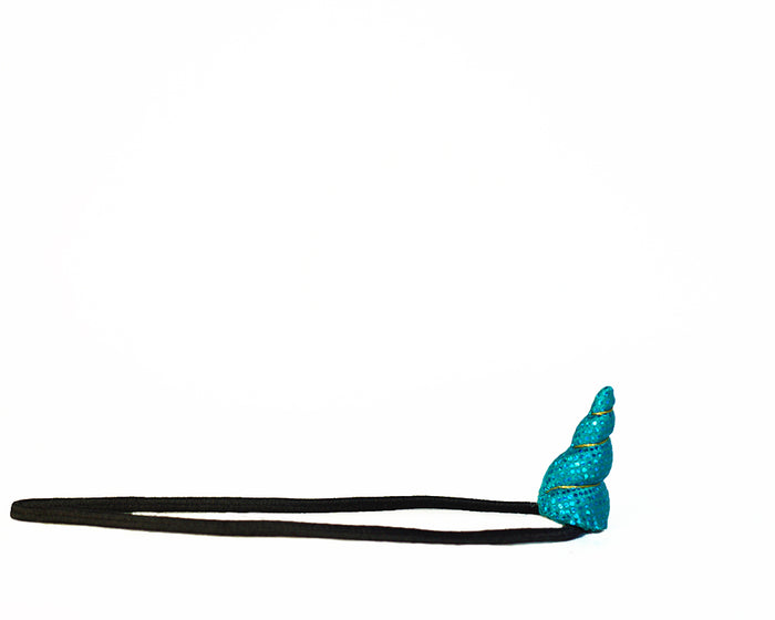 Aqua Sparkle Unicorn Horn Mini Size by Brooklyn Owl