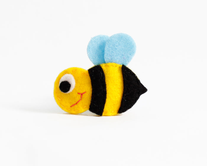 Bee Felt Hair Clip by Brooklyn Owl
