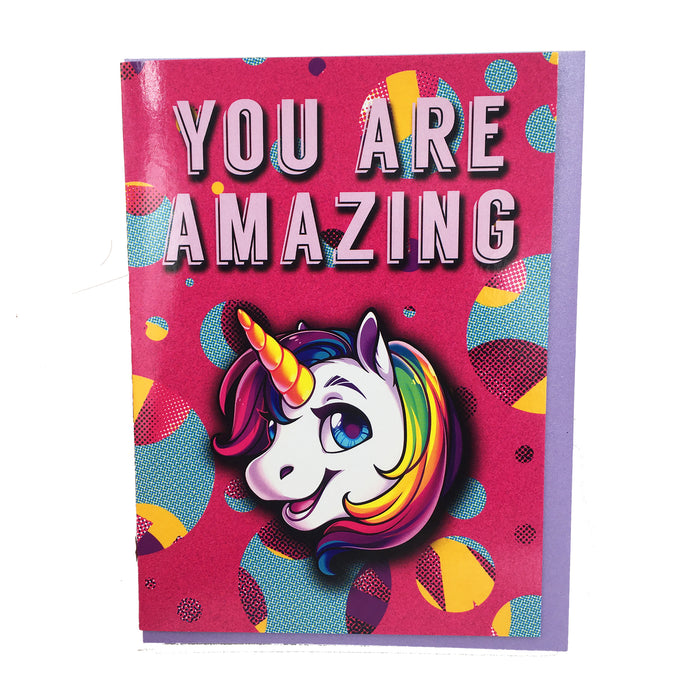 You are Amazing Unicorn Card by Brooklyn Owl