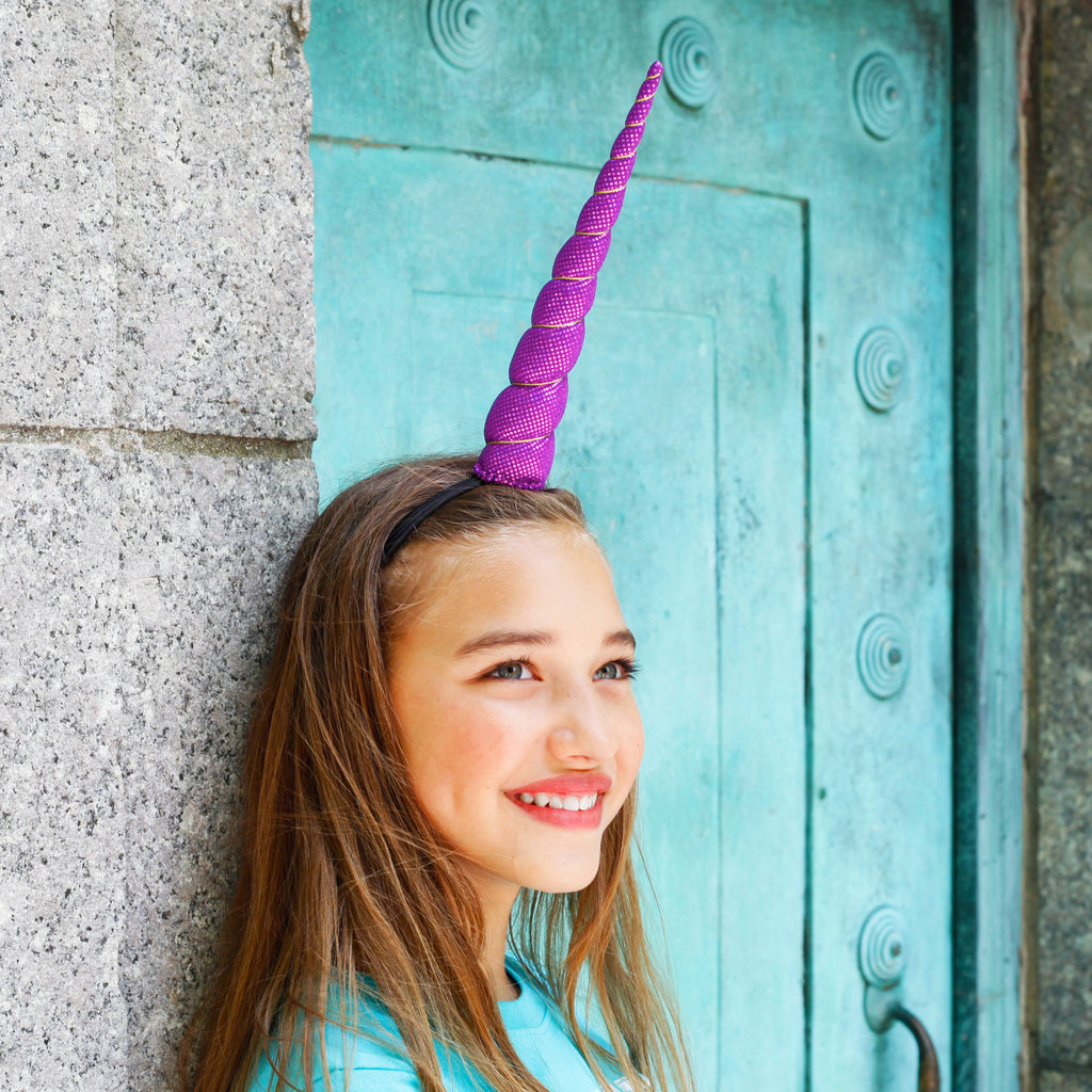 Aqua Sparkle Unicorn Horn Giant Size by Brooklyn Owl