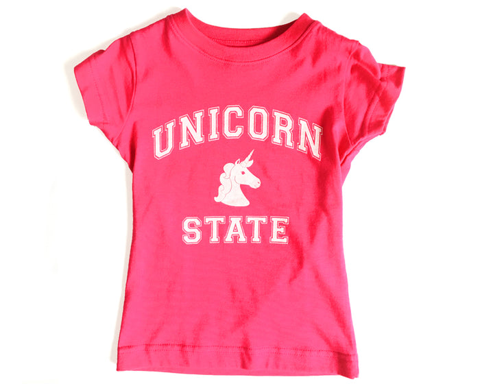 Unicorn State T-Shirt - Girls