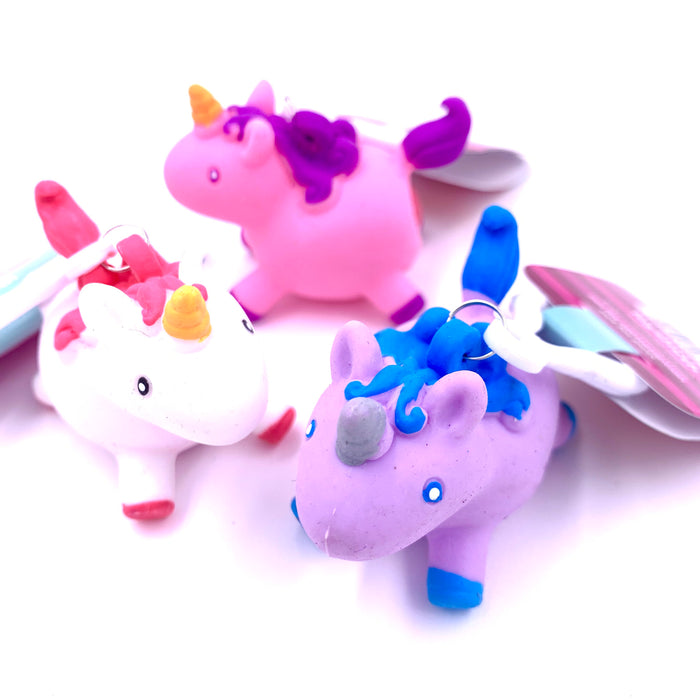 Unicorn Squeezy Poo Key Chain Toysmith