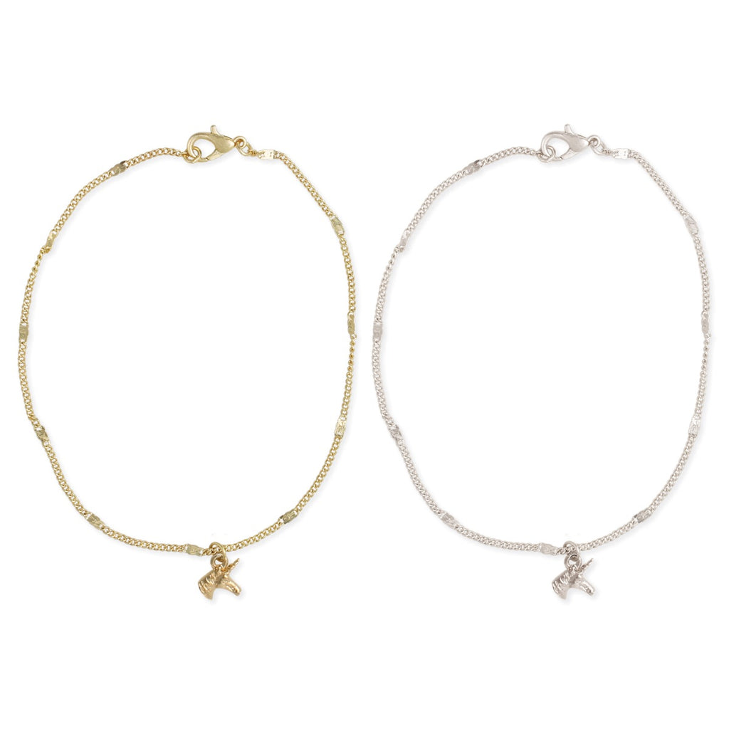 Magical Unicorn Charm Anklet by ZAD