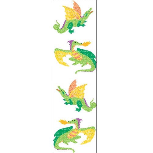 Sparkle Dragons Sticker Sheet Mrs.G