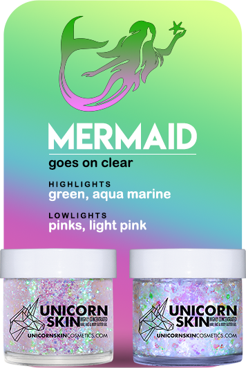 Unicorn Mermaid Chunky Bio Glitter by Unicorn Skin