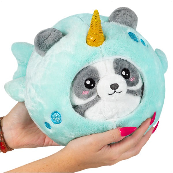 Undercover Panda in Narwhal Costume Stuffed Animal Squishable