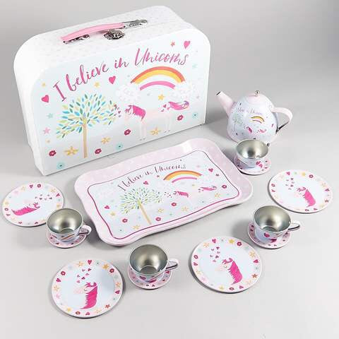 Tin Unicorn Tea Set by Floss & Rock