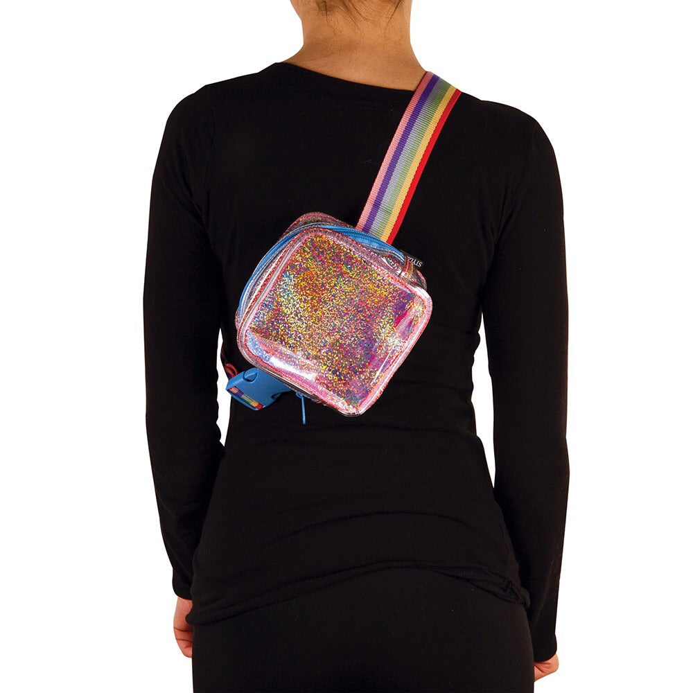 Sparkle Transparent Square Belt Bag