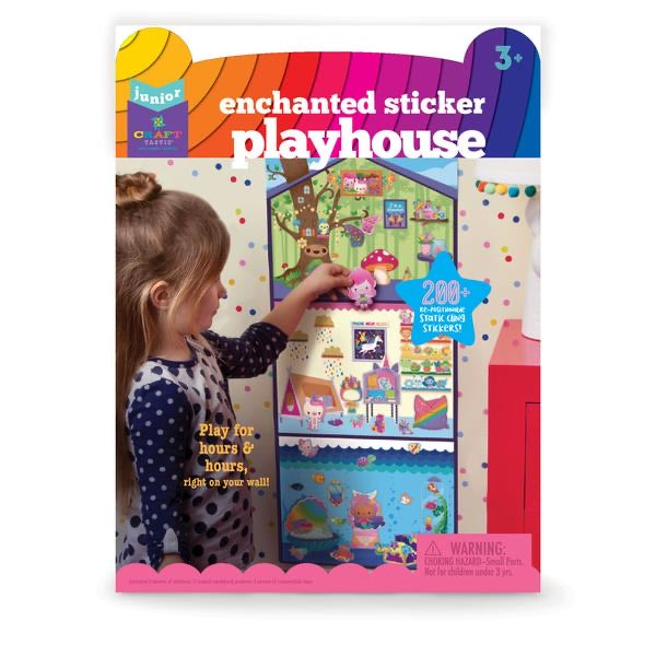 Jr. Little Enchanted Sticker Town Playhouse Craft-tastic DIY Kit