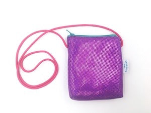 Purple Sparkle Coin Purse by Brooklyn Owl