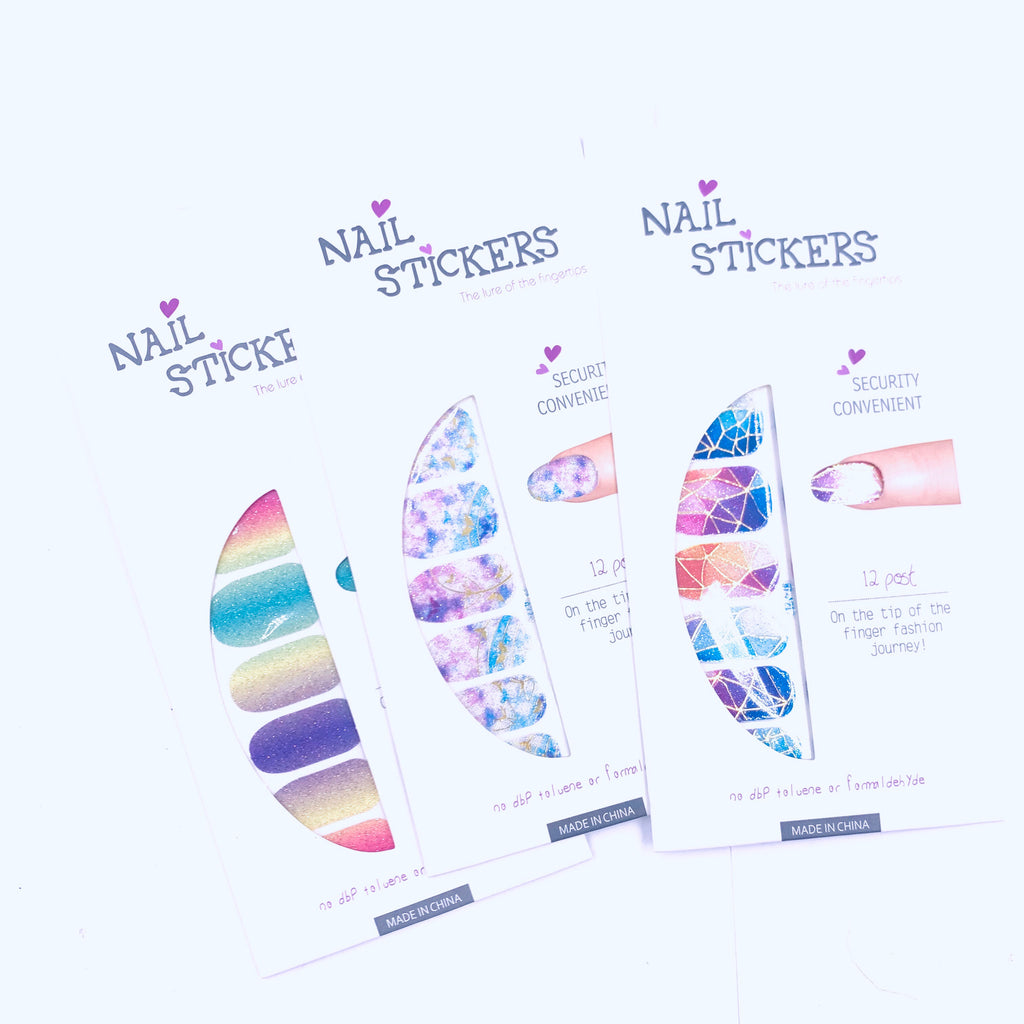 Nail Sticker Set misc colors
