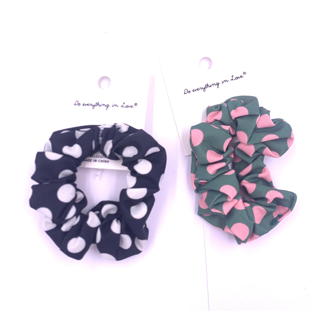 Polka Dot misc colored scrunchie