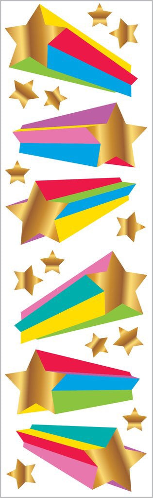 Fun Rainbow Stars Stickers Strip Mrs.G
