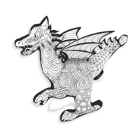 Dragon 3D Colorable - OOLY