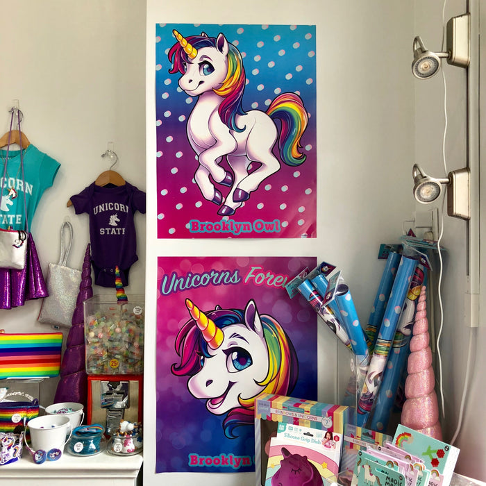 Reversible Unicorn Poster