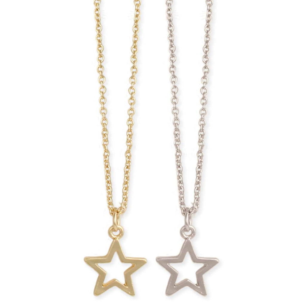 Shine Bright Star Outline Necklace in a Bottle by ZAD
