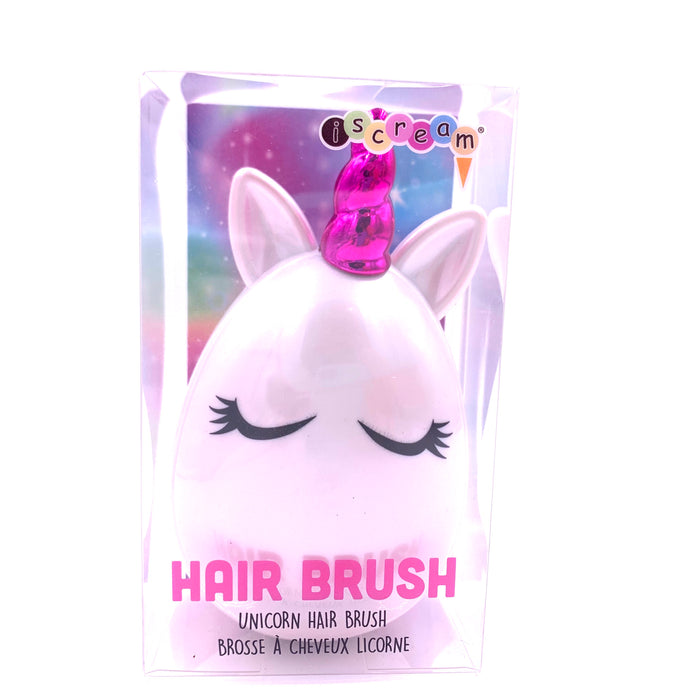 White and Pink Unicorn Hair Brush