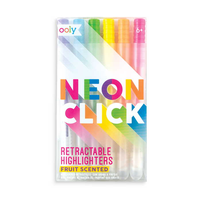 Neon Click Retractable Scented Highlighters by OOLY