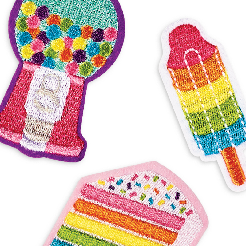 patch 'em Rainbow Treats iron on patches - set of 3 by OOLY