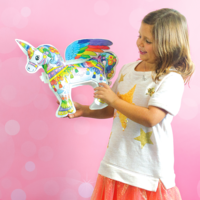 Unicorn 3D Colorable - OOLY