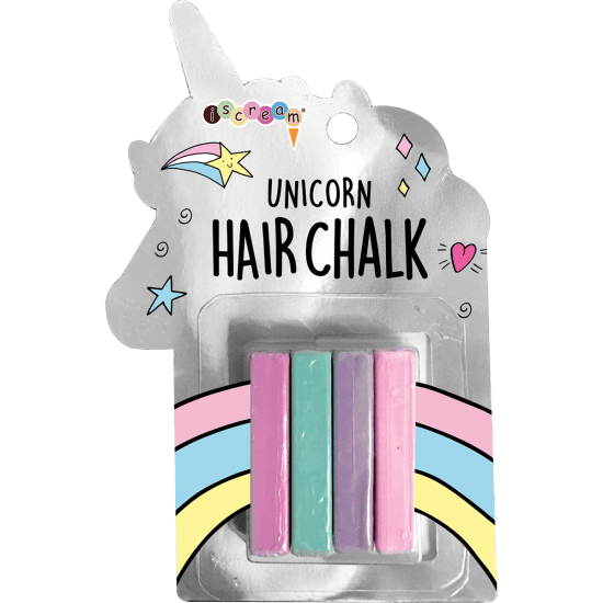 Unicorn 4 piece hair chalk