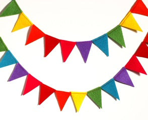 Rainbow Garland 6 ft by Brooklyn Owl