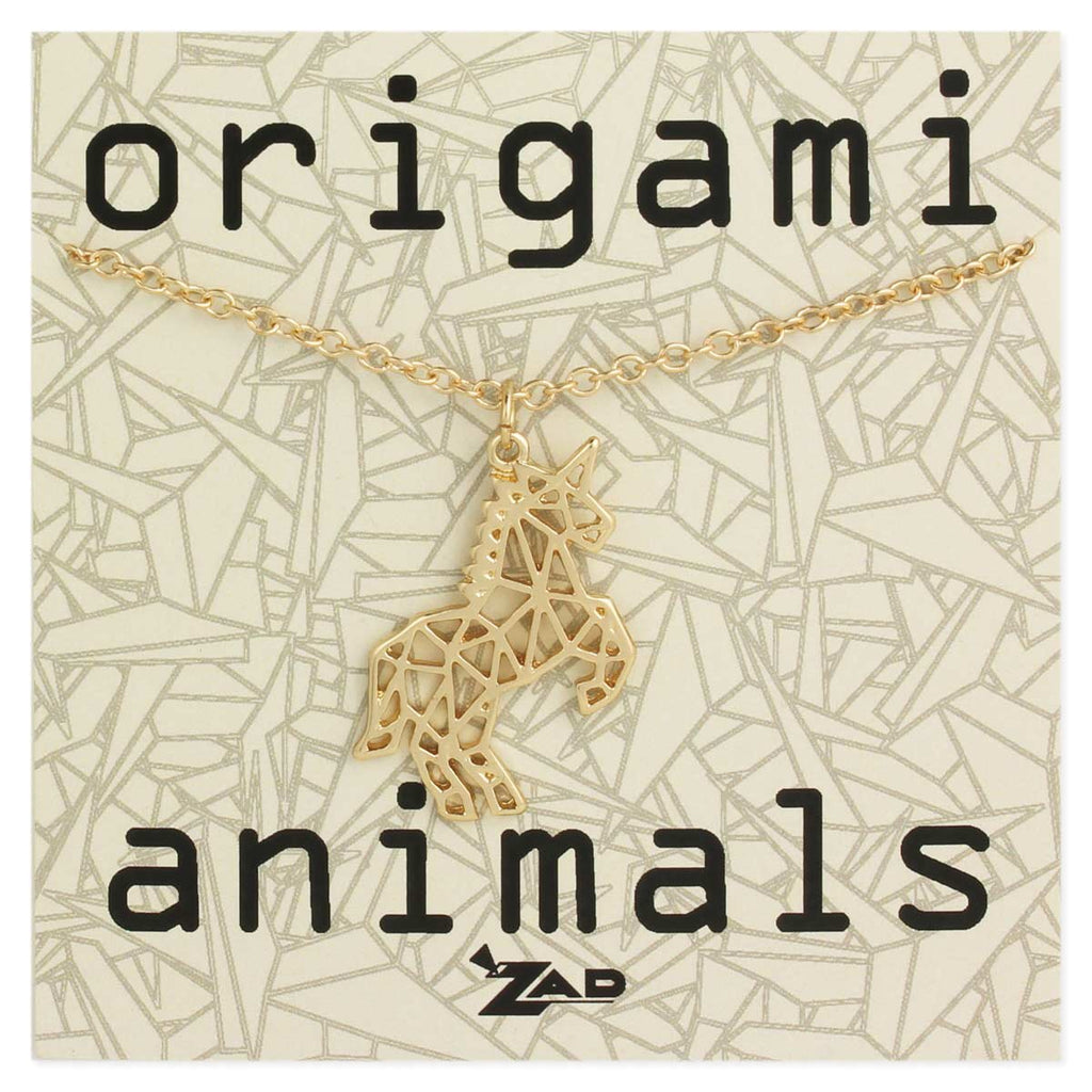 Origami Animals Unicorn Necklace by ZAD