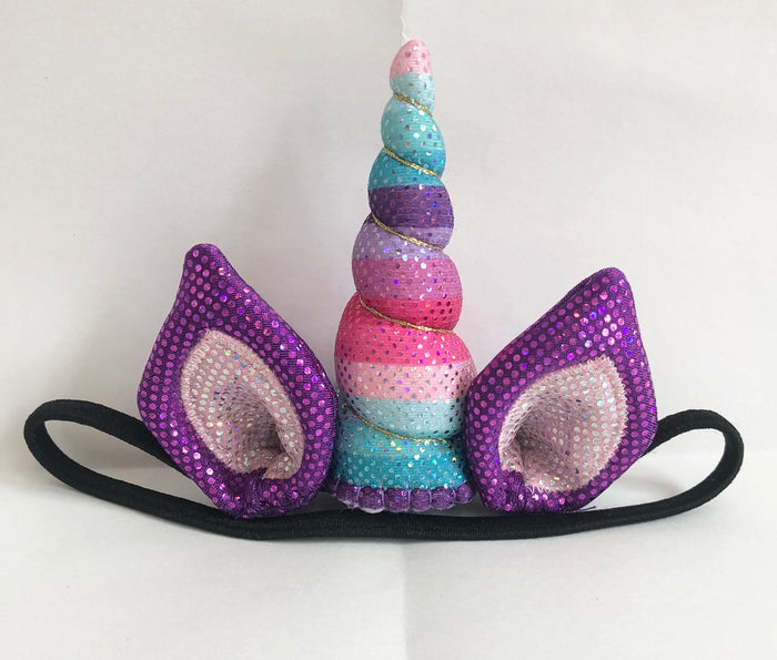 Candy Sparkle Unicorn Horn Ear Set Tween Size by Brooklyn Owl
