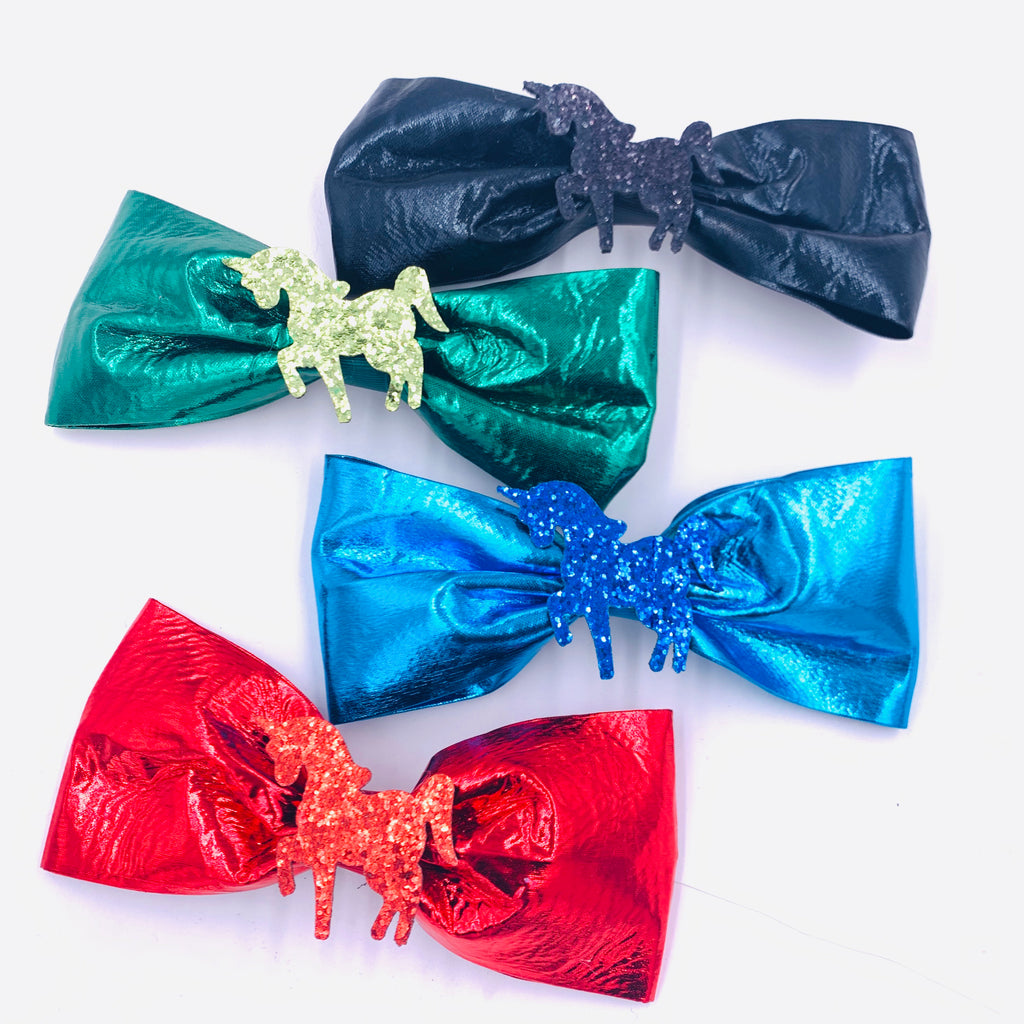 Large Unicorn Hair Bow Misc Colors