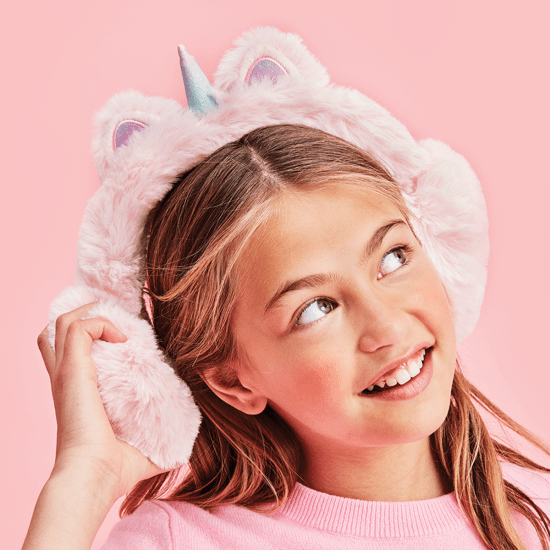 Unicorn Super Soft And Cozy Pink Ear Muffs