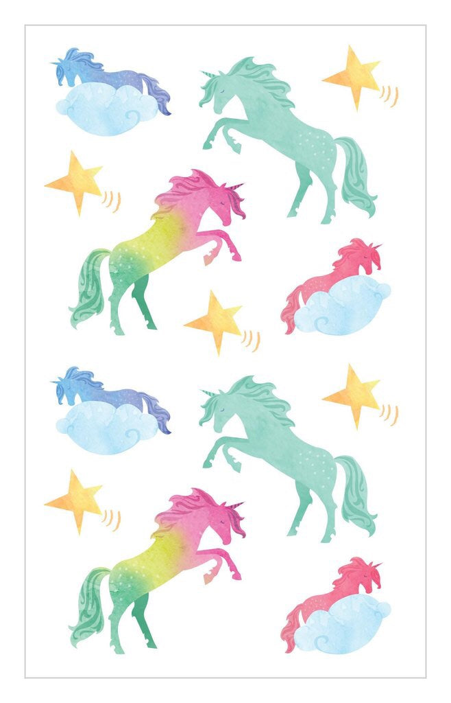 Water Color Unicorn Sticker Sheet Mrs.G