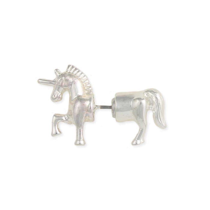 Unicorn Front-Back Post Earrings - ZAD