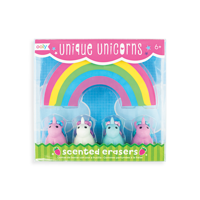 Unicorn Scented Erasers Set of 5- OOLY
