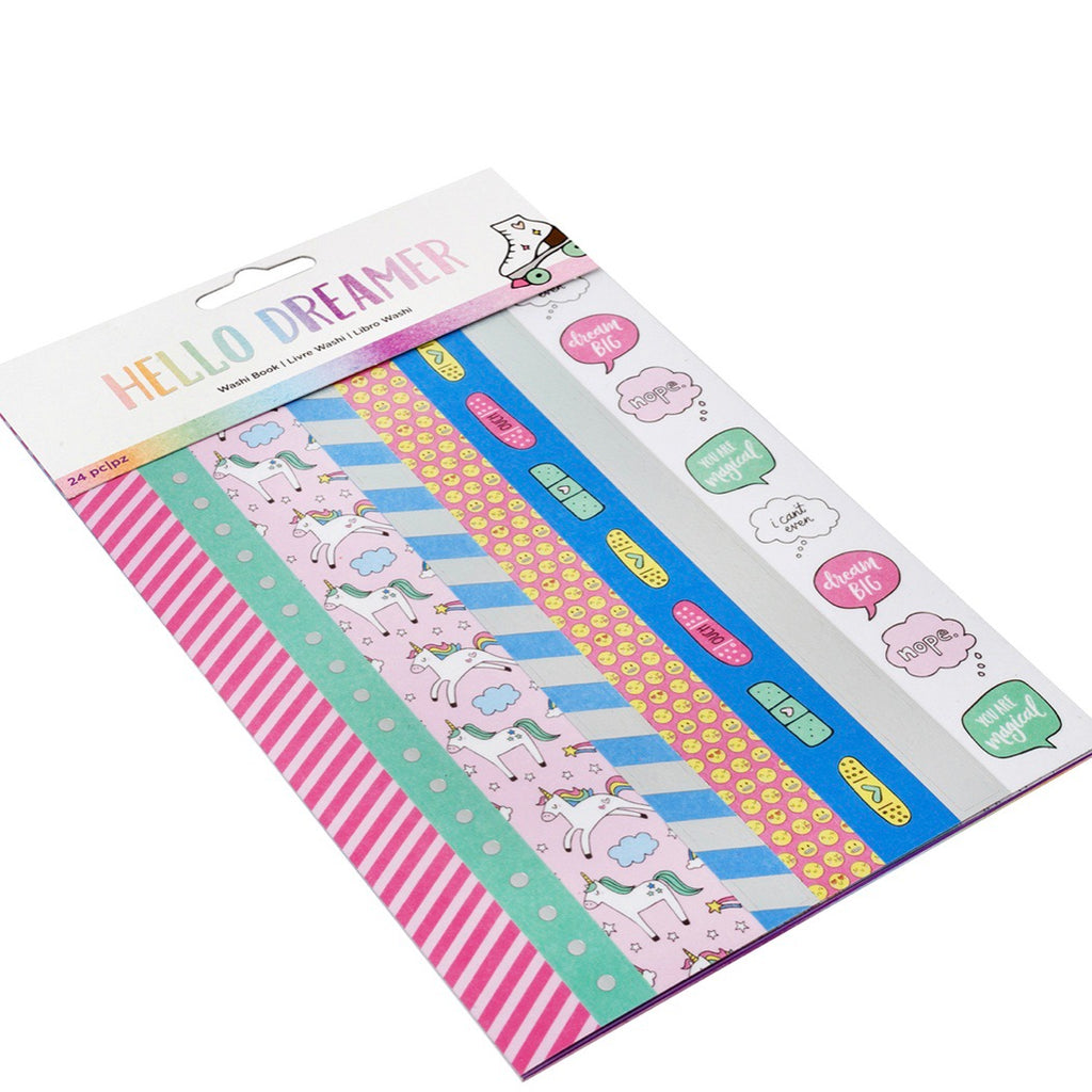 Unicorn washi tape book hello dreamer