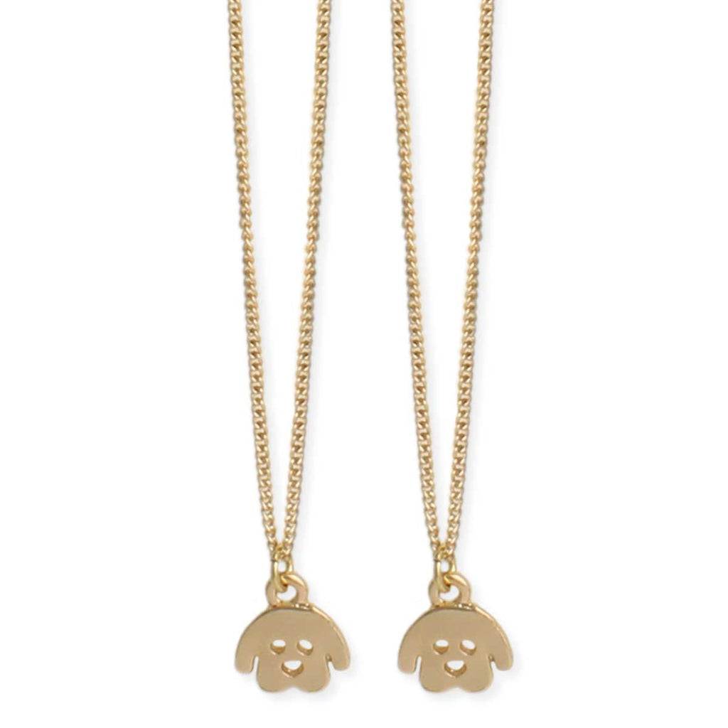 Cute Puppy Dog BFF necklace set by ZAD