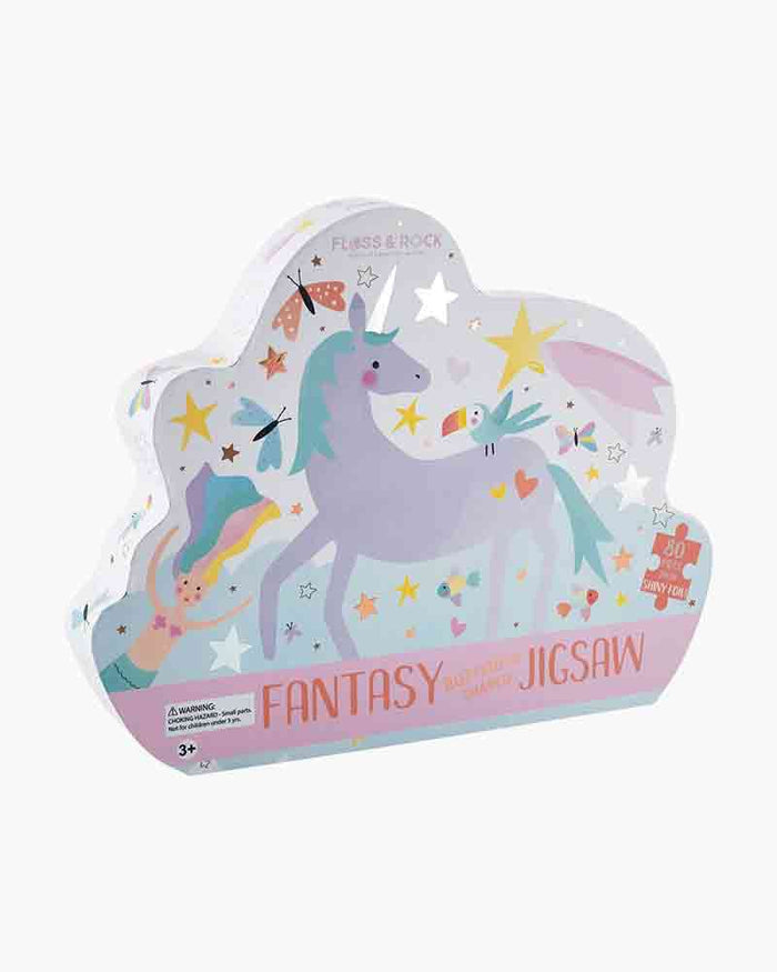 Unicorn fantasy shaped jigsaw puzzle box 80pcs