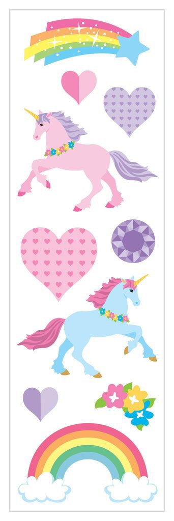 Unicorns Love Stickers Strip Mrs.G