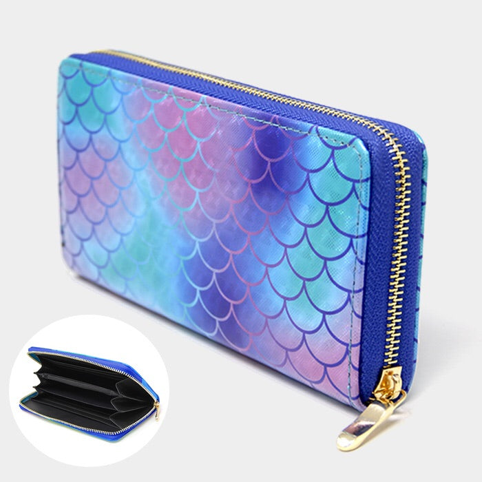 Mermaid Scale Zipper Wallet