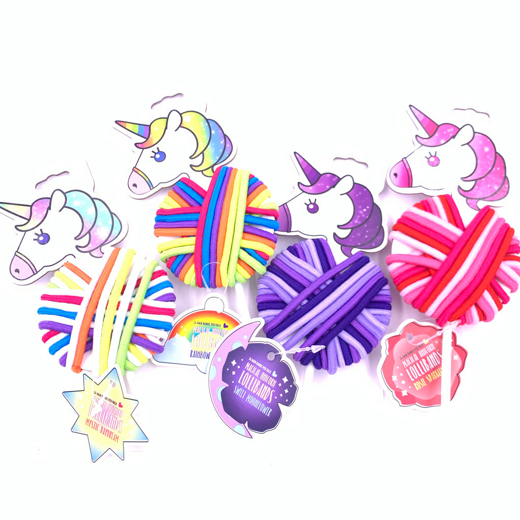 Elastic Hair Bands Lollipop Unicorn