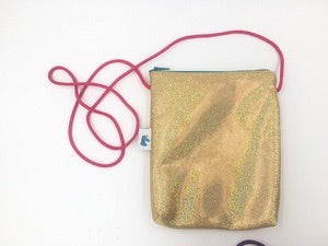Gold Sparkle Cross Body Purse by Brooklyn Owl