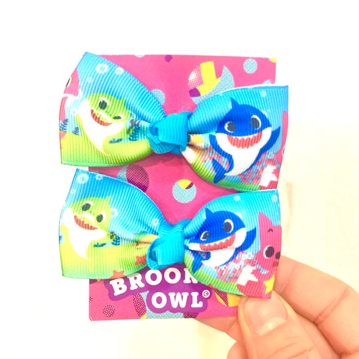 Baby Shark Hair Bow misc colors