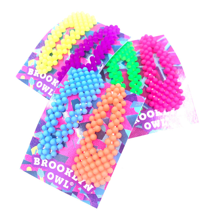 Neon Set of 2 Snap Clips assorted colors