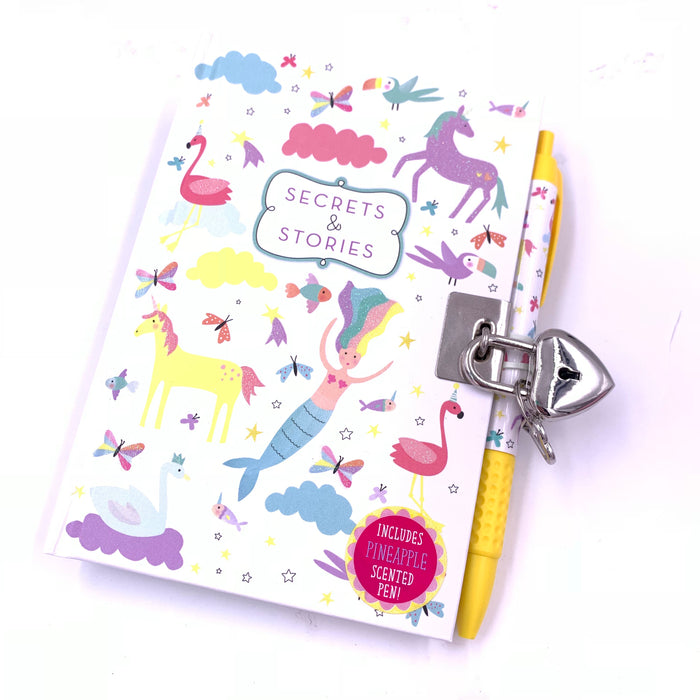 Fantasy Lockable Diary with pen by Floss & Rock