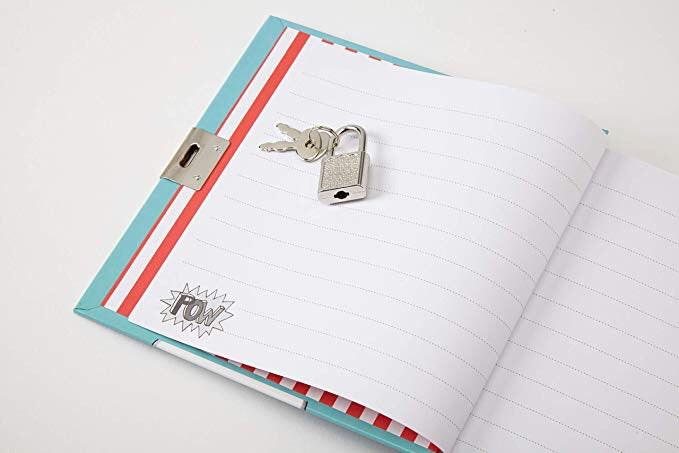 Superhero locking secret diary