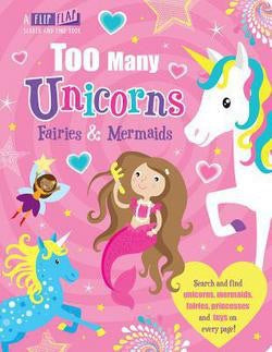 Too Many Unicorns seek and find board book
