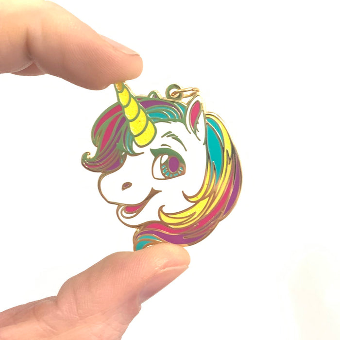 Unicorn Rainbow Head Charm
