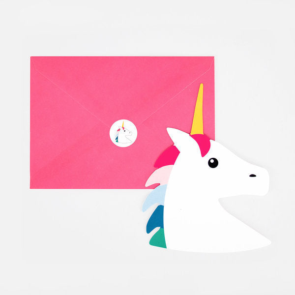 Rainbow Unicorn Invitations by My Little Day