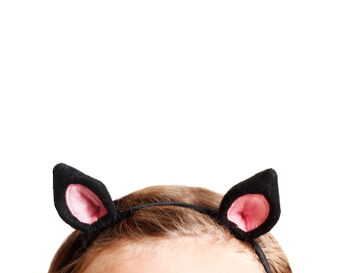 Back and Pink Felt Small Cat Ear Set by Brooklyn Owl