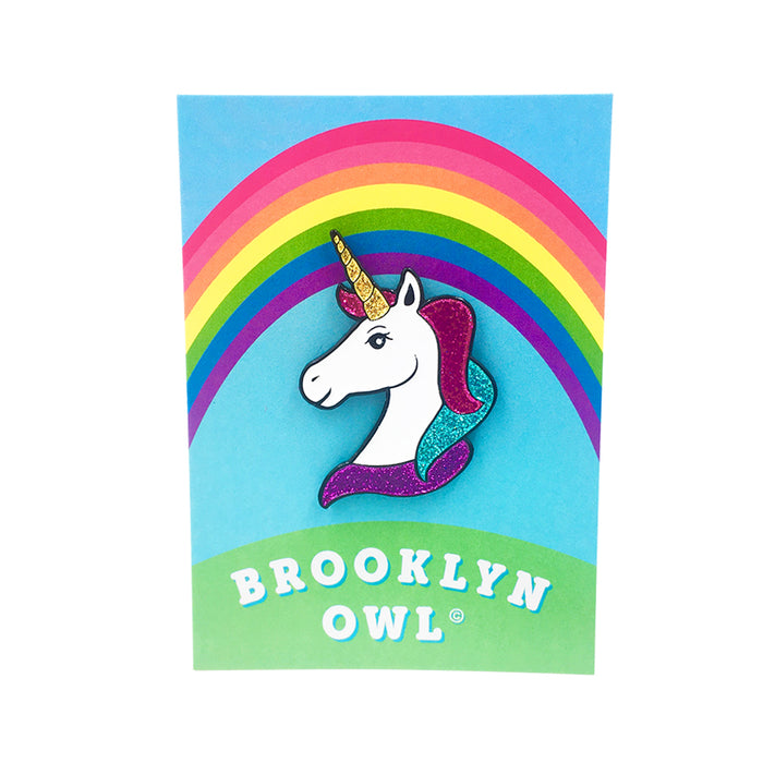Unicorn Enamel Pin by Brooklyn Owl